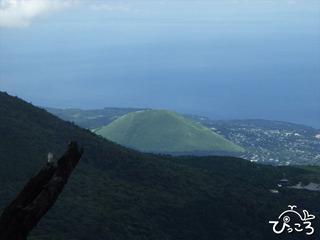大室山を見下ろして