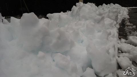 除雪された雪