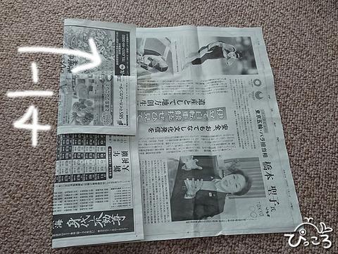 新聞でごみ袋_2