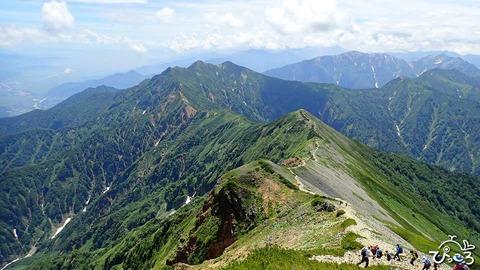 20190807_爺ヶ岳への稜線