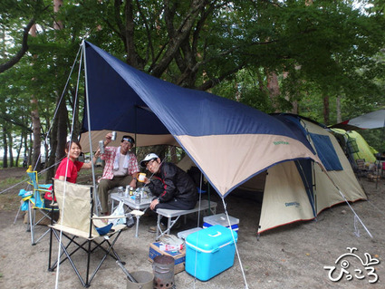 キャンプでBBQ