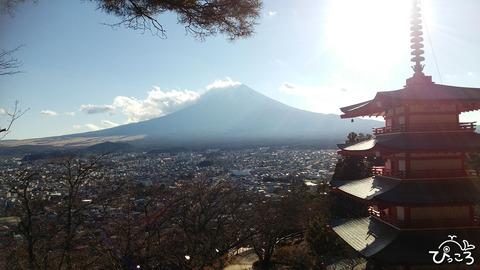0114新倉山浅間公園より富士