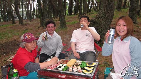 BBQ@本栖湖キャンプ場