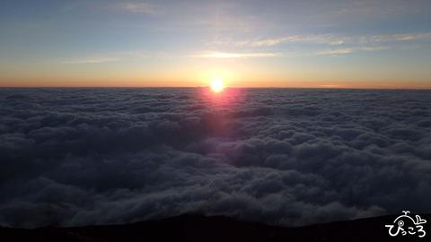 雲海の上にご来光