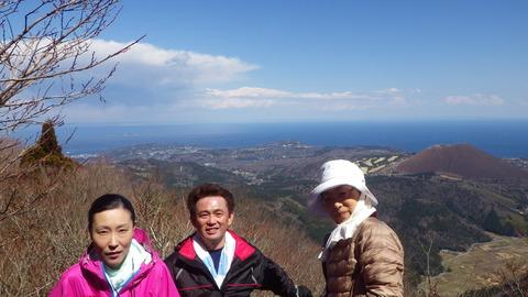 大室山と相模湾