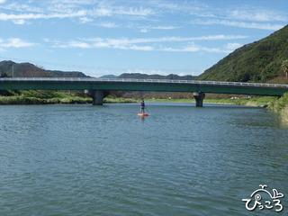 川にて練習