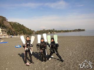2013-1-17富士山と一緒