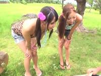 【動画】野外でチンポを漁るギャル逆レイプ!(*゚∀゚)=3 ムッハー