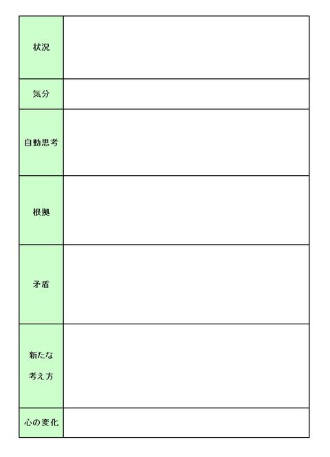 131105認知療法シート(レッスン2)