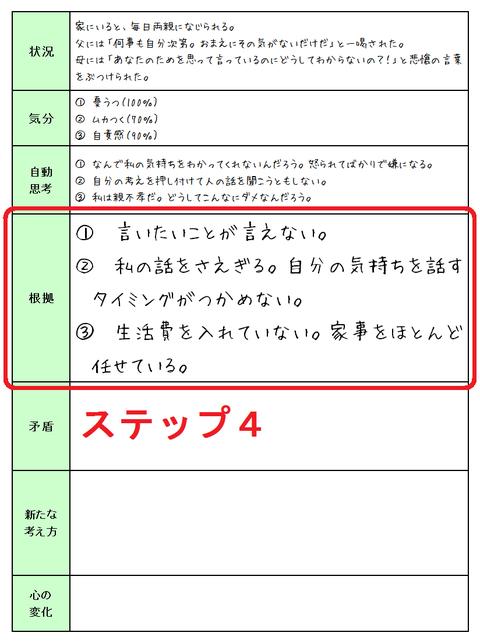 131107認知療法 状況①ステップ4