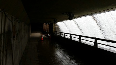 2020年の開放期間湯田貯砂ダム(錦秋湖大滝)