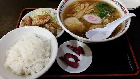 山ひろラーメンセット900円唐揚げの疑問