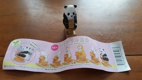 ゆらゆら木馬乗り全6種200円ハムスターウサギ三毛猫柴犬ブタパンダ