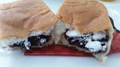 食べた感想中身たっぷり四角いパンつぶあん&ホイップヤマザキパン