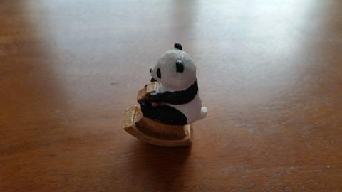 【カプセルトイ】ゆらゆら木馬乗り(200円)パンダ