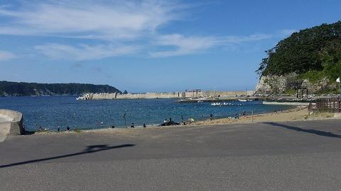 2021年海水浴感想真崎海岸小港海水浴場