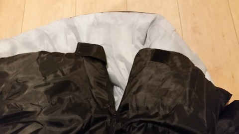 ダイソーキャンプギア寝袋封筒型シェラフ