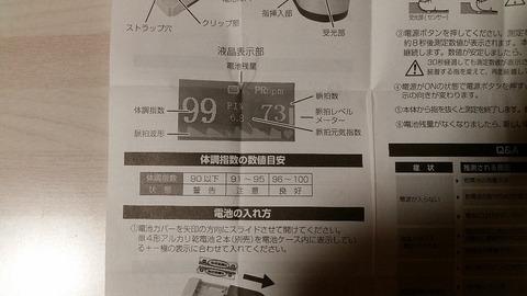 見方体調指数血中酸素飽和濃度90以下