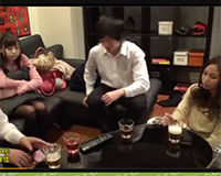 【エロ動画】合コンの後自宅で飲み直して別々の部屋で個別にエッチする!||