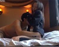 【エロ動画】デコ上げしたミニスカJKとホテルでハメ撮り!
