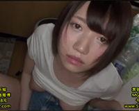 【エロ動画】汚い部屋でショートヘアの女の子が頭抑えてガシガシフェラさせられてハメられる