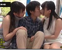 【エロ動画】童貞の男が初めてのエッチで可愛い女の子2人に相手してもらえて羨ましい  