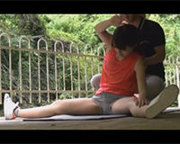 【エロ動画】陸上部の女の子と野外セックスする!