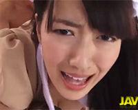メイドコスの元アイドルが激しいセクロスでザーメン顔射!