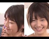 【エロ動画】顔射されるショートカットの可愛い女の子