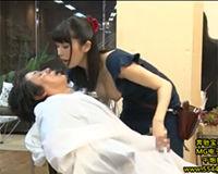 【エロ動画】手コキサービスも有り!な最高の美容室||