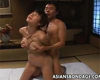 【エロ動画】ロープで縛られた女とSEX