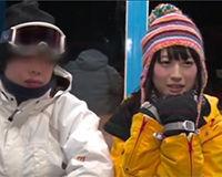 【エロ動画】スノーウェアに包まれためっちゃ可愛い女の子の全裸姿が露わに…