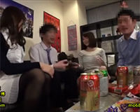 【エロ動画】OLと宅飲みしてて各々セックスする流れに…