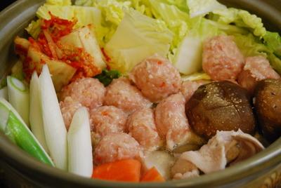 鶏団子の豆乳チゲ鍋