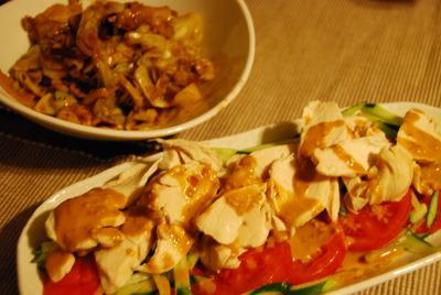 回鍋肉&棒々鶏