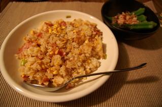 卵とベーコンのチャイニーズ炒飯