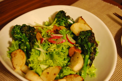 鎌倉野菜のサラダ&キャベツとひき肉のミルフィーユグラタン