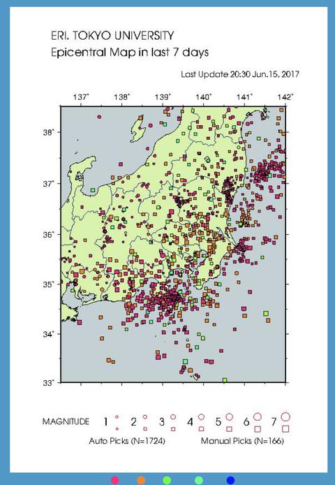 1週間地震