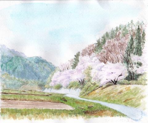 2010年4月29日に見た大内宿へ行く道