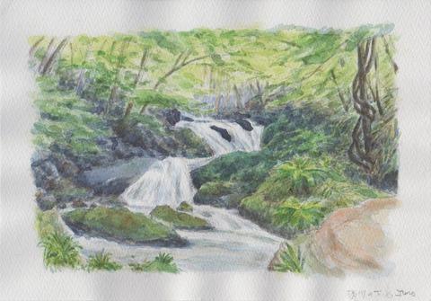 横川の下滝新緑