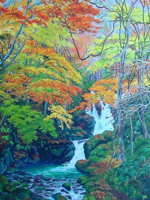 横川の下滝紅葉