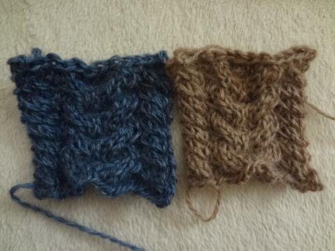 別糸で編む