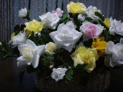 ティッシュの花2、