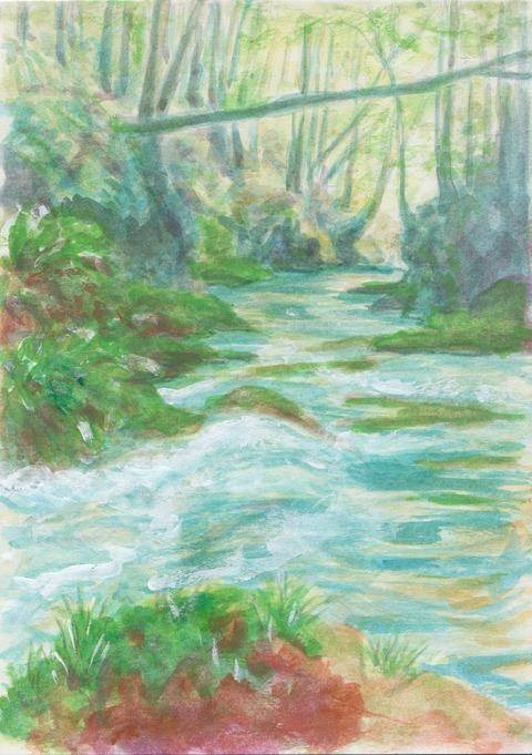 横川の下滝木漏れ日