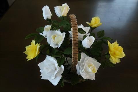 ティッシュとチリ紙の花