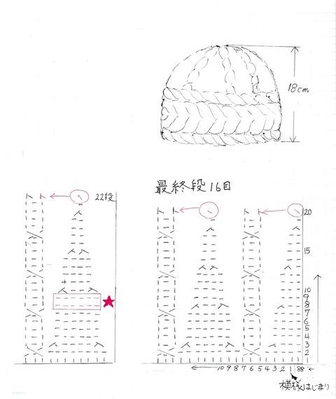 20181129帽子用模様編み (2)