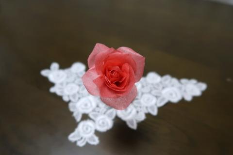 チリ紙赤バラ
