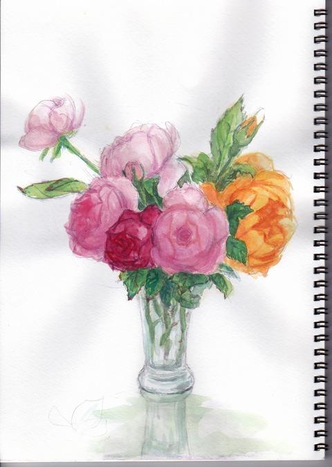 20190206庭のバラ