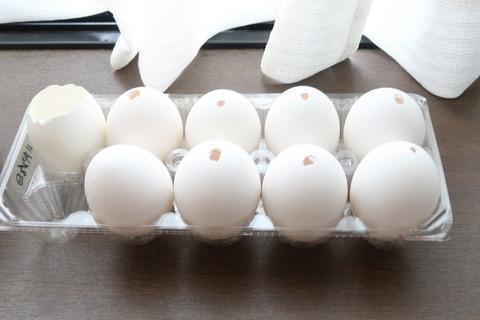 卵を乾かす