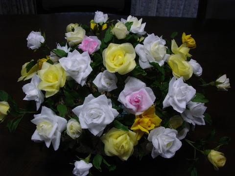 ティシュの花1、